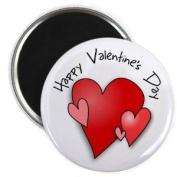 HAPPY VALENTINE'S DAY HEART 2.25 Fridge Magnet