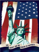Statue of Liberty steel fridge magnet