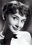 Audrey Hepburn steel fridge magnet