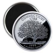 CONNECTICUT State Quarter Mint Image 5.7cm Fridge Magnet