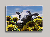 Cow in Sunflowers Refrigerator Magnet