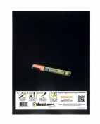 Magnetic Backed Kitchen or Office Ziggyboard Chalkboard with Orange chalk marker 30.5cm x 40.6cm