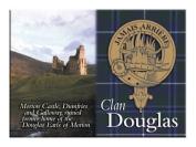 Douglas Scottish Clan Metallic Picture Fridge Magnet