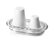 Omada M3835BI White Happy Drink Double Cup Holder for Water and Coffee