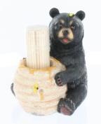 Cute Black Bear / Honey Pot Toothpick Holder - Decorative Lodge Cabin Bear Cub Decor