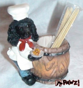 Black Poodle Toothpick Holder