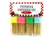 Pastel Toothpick Dispenser Set
