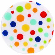 Andreas TRT63 25.4cm Silicone Trivet, White Dots