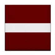 Latvia Flag Tile Trivet