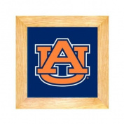 Auburn Tigers Ceramic & Wood Trivet - 20.3cm . x 20.3cm .