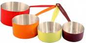 Reston Lloyd 4-Piece Calypso Basics Stainless Steel Measuring Cup Set