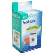 Fit& Fresh Food Preparation Food Scale measures up to 16 oz. in 1/2 oz. increments or 500 grams in 10 gram increments 30015