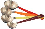 Reston Lloyd 4-Piece Calypso Basics Stainless Steel Measuring Spoon Set