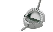 Kuchenprofi Ravioli Cornish Pasty Maker Mould and Cutter Stainless Steel Silver 12 cm Diameter