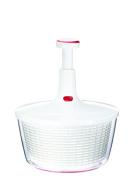 Leifheit Large Twist Pump Salad Spinner, White