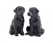 Quail Ceramics Fine China Black Labrador Salt & Pepper Pots