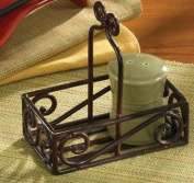 Black Village Scroll Salt and Pepper Caddy