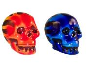 Flaming Skull Set of Salt and Pepper Shakers