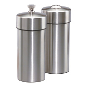 Chef Specialties 29900 5.5 Inch - 14 cm FuturaBrushed Stainless Pepper Mill Salt Shaker Set