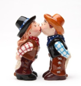 Cowboy and CowgirlMagnetic Ceremic Salt and Pepper Shakers