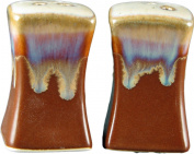 PRADO STONEWARE COLLECTION - Square Dinnerware Collectible & Functional Salt & Pepper Shaker Set - Chocolate Brown