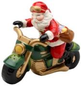 Cosmos Santa Motorcycle Salt and Pepper Set, 6.6cm Tall