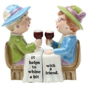 Pacificgift-Whining Ladies With Wine Salt And Pepper Shakers