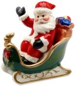 Cosmos Santa on Sleigh Salt and Pepper Set, 7.1cm Tall