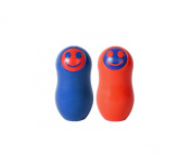 Kizmos Get Happy Salt and Pepper Shaker, Red/Blue