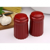 OmniWare Simsbury Red Stoneware Salt and Pepper Shakers