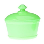 Mosser Glass Butter Tub with Lid in Jadeite
