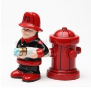 Pacific Trading 8599 Magnetic Fireman Salt And Pepper Shakers