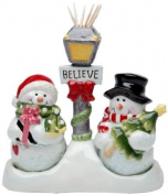 Cosmos Gifts 10650 Snowman Salt and Pepper Set/Toothpick Holder, 13.3cm