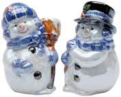 Cosmos Gifts 737-15 Glossy Snowman Couple Salt and Pepper Set, 8.9cm