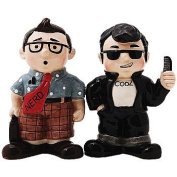 Nerd & Cool Guy Salt and Pepper Shaker Set - Ceramic Collectibles