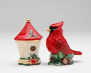 Cosmos Gifts 10467 Cardinal with House Salt and Pepper Set, 5.4cm