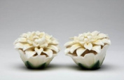 Identical Pair of Light Yellow Daisy Salt and Pepper Collectible