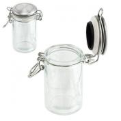 Glass Spice Storage Jar -Seal-Tight Stainless Lid - 75ml - 2.5 fl oz