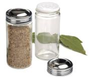 Set of 6, RSVP Glass Spice Jars - 3 oz.