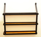 3 Tier Spice Rack in Black and Lacquered Natural Wood