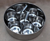 Stainless Steel Spices Container Indian Dabba Masala Box