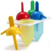 Danesco 1313488 Silicon Ice Pop Moulds, Set of 4