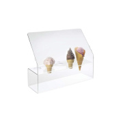 Cal-Mil Clear Acrylic Waffle Cone Holder with Guard