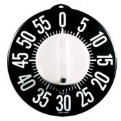 Tactile Low Vision Timer Black Dial White Numbers