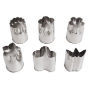 Set of Six Stainless Steel Food Prep Cutting Moulds Japan
