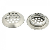 Amico 2 Pcs Silver Tone Stainless Steel 25mm Kitchen Sink Strainers