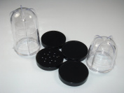 2 Replacement Mixing Cups and 4 Lids compatible with Magic Bullet