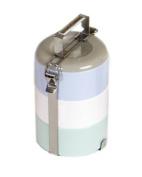 Vivo Small Round Bento Box, White, Grey, Blue, Green