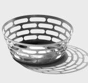 SteelForme Brushed 22.9cm Stainless Steel Round Bread Basket