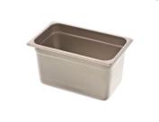 Browne Foodservice 98146 25-Gauge Quarter Size Stainless Steel Anti-Jam Steam Pan, 15.2cm